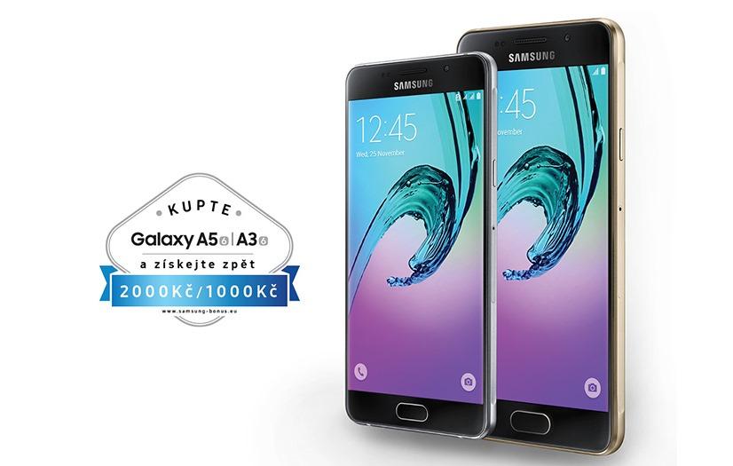 Kupte si Galaxy A3/A5 2016 a získejte až 2000 Kč zpět!