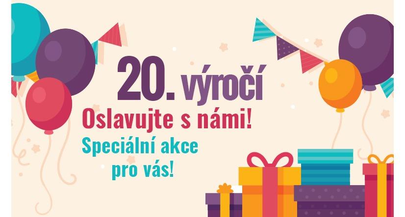 Slavíme 20. narozeniny a jako dárek pro vás máme slevu 1000 Kč!