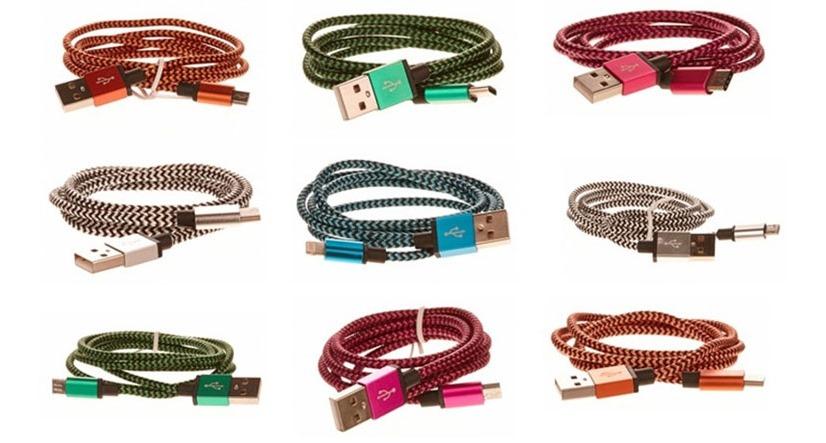 OEM univerzální pletené kabely