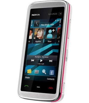 Nokia 5530 XpressMusic White/Pink - Foto 3 Mpix, WiFi, MP3, bluetooth, stereoreproduktory, 3.5 mm jack