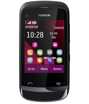 Nokia C2-02 Chrome Black