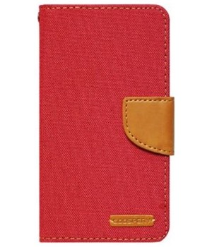 Pouzdro BOOK CANVAS Universal 5,5 red