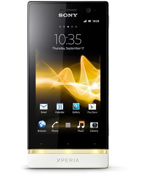 Sony ST25i Xperia U Pure White Yellow