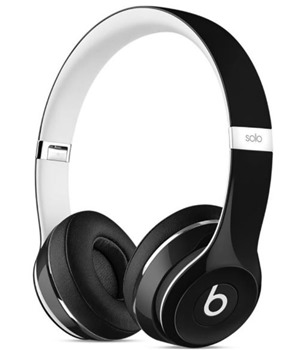 Apple ML9E2ZM/A Beats Solo2 On-Ear Headphones Luxe - 3,5mm Jack - černé