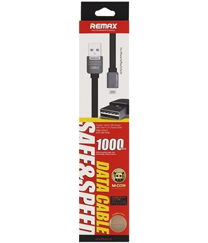 Remax Safe and Speed 1m datový kabel Lightning pro iPhone 5/5S/6 černý