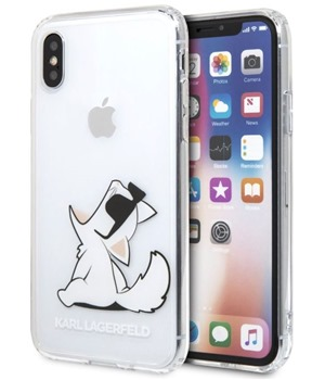 Karl Lagerfeld Fun Choupette No Rope zadní kryt pro Apple iPhone X XS čirý ( b87f36d3abc