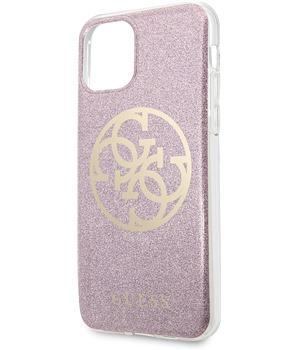 Guess 4G Glitter Circle zadní kryt pro Apple iPhone 11 růžovýzlatý (GUHCN61PCUGLPI)