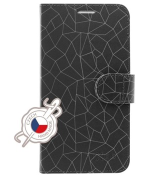 FIXED FIT flipové pouzdro pro Apple iPhone 7/8 motiv Grey Mesh
