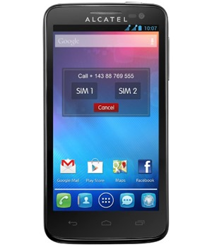 ALCATEL ONETOUCH 5035D X´POP Raven Black