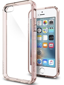 Spigen Ultra Hybrid zadní kryt pro Apple iPhone SE 5s 5 růžový (Rose ... ecd1874e78e