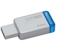 Kingston flash disk 64GB DT 50 USB 3.1 Gen1 kov/modrý