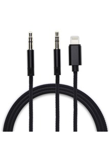 4smarts SoundCord audio kabel 3,5mm jack > 3,5mm jack a Lightning pro Apple iPhone černý