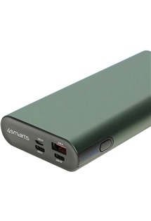 4smarts VoltHub Enterprise 2 130W Quick Charge 3.0 a PD powerbanka 20000mAh zelená