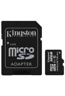 Kingston 32GB microSDHC UHS-I Class 10 Industrial Temp Card s adaptérem SD (SDCIT/32GB)