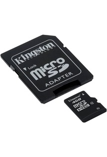Kingston 4GB microSDHC Class 4 s adaptérem SD (SDC4/4GB)