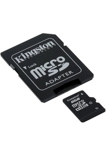 Kingston 8GB microSDHC Class 4 s adaptérem SD (SDC4/8GB)