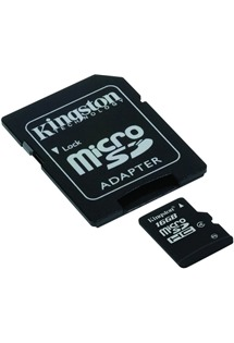 Kingston 16GB microSDHC Class 4 s adaptérem SD (SDC4/16GB)