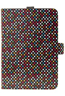 FIXED Novel pouzdro na tablet do 10,1 se stojánkem a kapsou pro stylus motiv Rainbow Dots (260x175mm)