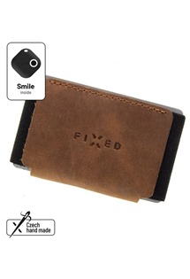 FIXED Smile Tiny Wallet kožená peněženka se smart trackerem Smile Motion hnědá
