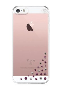Bling My Thing zadní kryt pro Apple iPhone 5/5S/SE s Swarovski Elements (Diffusion Pink Mix) + folie