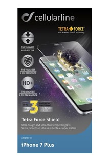 CellularLine TETRA FORCE GLASS tvrzené sklo pro Apple iPhone 7 Plus/8 Plus