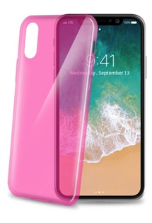 CELLY Ultrathin TPU kryt pro Apple iPhone X a XS růžový