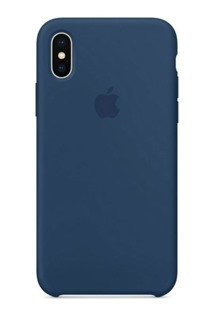 Apple MQT42ZM/A silikonový kryt pro Apple iPhone X Blue Cobalt