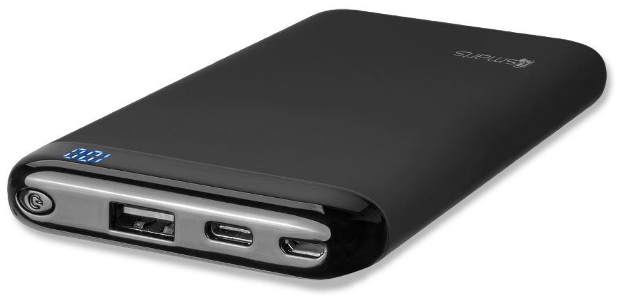 4smarts VoltHub QC3.0 powerbanka 10000mAh černá