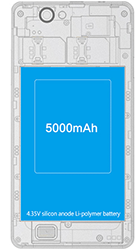 THL 5000 Black dualSIM + ZDARMA aktivní flipové pouzdro S-View